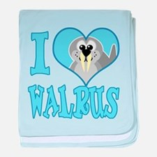 I Love (Heart) Walrus Infant Blanket