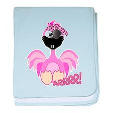 Goofkins Pink Flamingo Pirate Infant Blanket