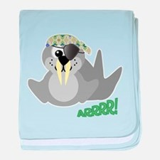 Goofkins Walrus Pirate Infant Blanket