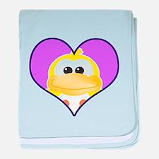 Cute Goofkins Ducky in Heart Infant Blanket