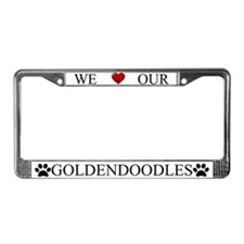 White We Love Our Goldendoodles Frame