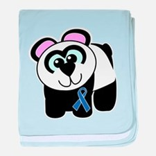 Blue Awareness Ribbon Goofkin Infant Blanket