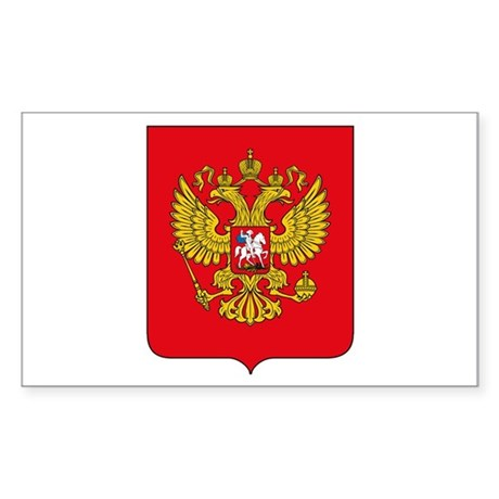 Russian Coat of Arms Rectangle Sticker