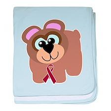 Burgundy Awareness Ribbon Bea Infant Blanket