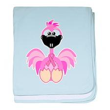 Pink Awareness Ribbon Pink Fl Infant Blanket