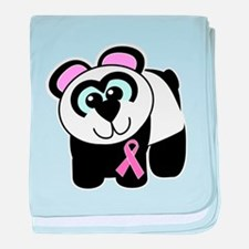 Pink Awareness Ribbon Panda Infant Blanket