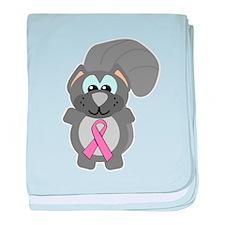 Pink Awareness Ribbon Squirre Infant Blanket