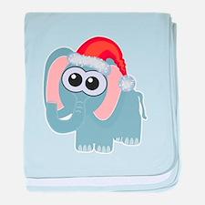 Cute Christmas Elephant Santa Infant Blanket