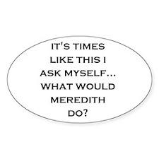 """GA """"meredith"""" Oval Decal"""