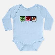 Peace Love Football Long Sleeve Infant Bodysuit
