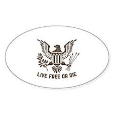 LIVE FREE OR DIE Decal