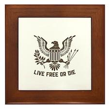 LIVE FREE OR DIE Framed Tile