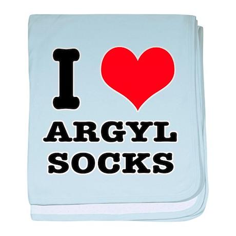 I Heart (Love) Argyl Socks Infant Blanket
