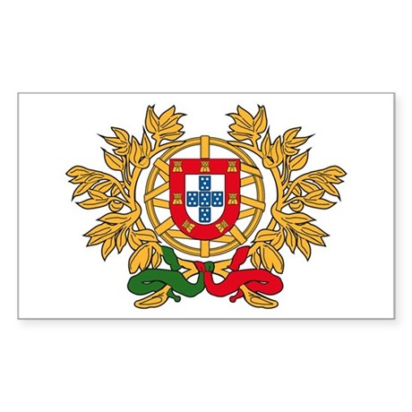 Portugal Coat of Arms Rectangle Sticker