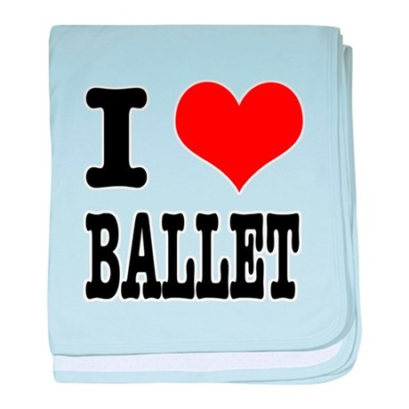 I Heart (Love) Ballet Infant Blanket