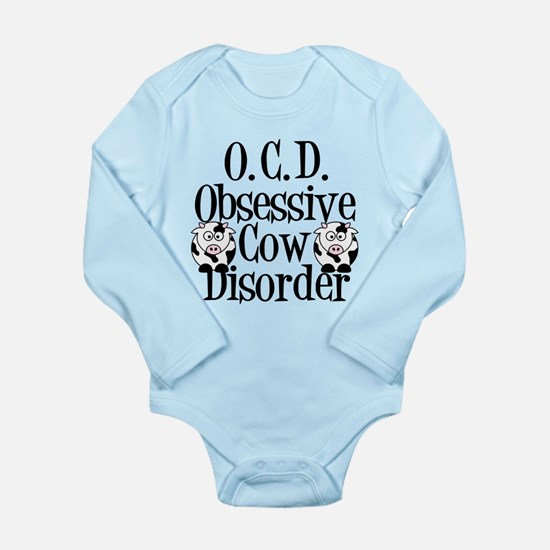 Obsessive Cow Disorder Long Sleeve Infant Bodysuit