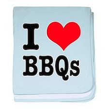 I Heart (Love) BBQs Infant Blanket