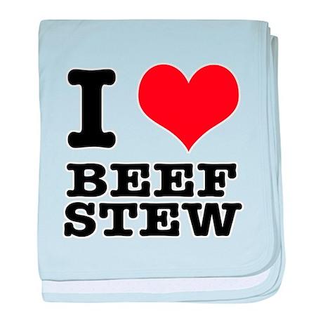 I Heart (Love) Beef Stew Infant Blanket