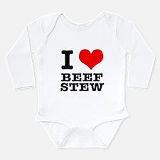 I Heart (Love) Beef Stew Long Sleeve Infant Bodysu