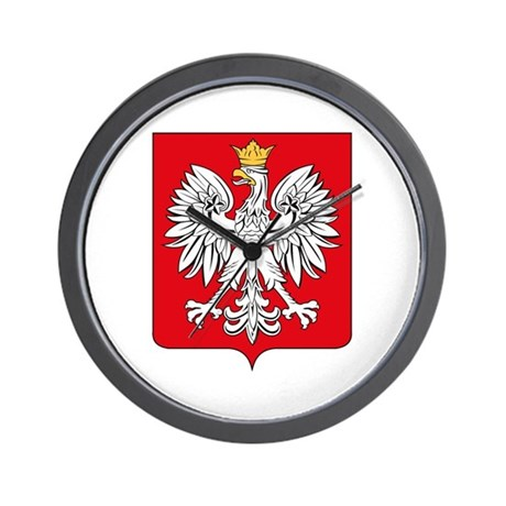 Polish Coat of Arms Wall Clock