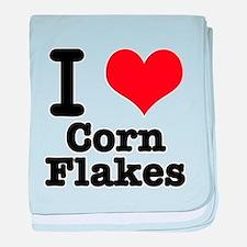 I Heart (Love) Corn Flakes Infant Blanket