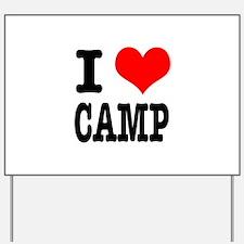 I Heart (Love) Camp Yard Sign
