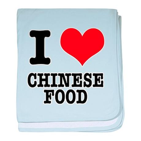I Heart (Love) Chinese Food Infant Blanket
