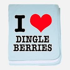 I Heart (Love) Dingleberries Infant Blanket