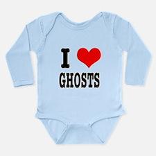 I Heart (Love) Ghosts Long Sleeve Infant Bodysuit
