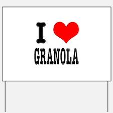 I Heart (Love) Granola Yard Sign