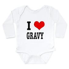 I Heart (Love) Gravy Long Sleeve Infant Bodysuit