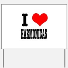 I Heart (Love) Harmonicas Yard Sign