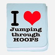 I Heart (Love) Jumping Throug Infant Blanket