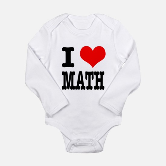 I Heart (Love) Math Long Sleeve Infant Bodysuit