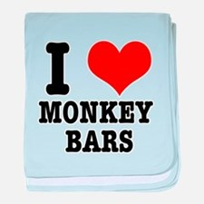 I Heart (Love) Monkey Bars Infant Blanket