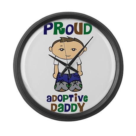 Proud Adoptive Daddy Large Wall Clock
