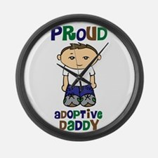 Proud Adoptive Daddy Large Wall Clock