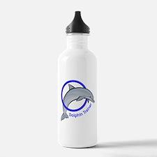Dolphin Trainer Blue Water Bottle