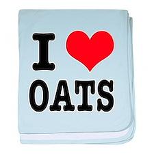 I Heart (Love) Oats Infant Blanket