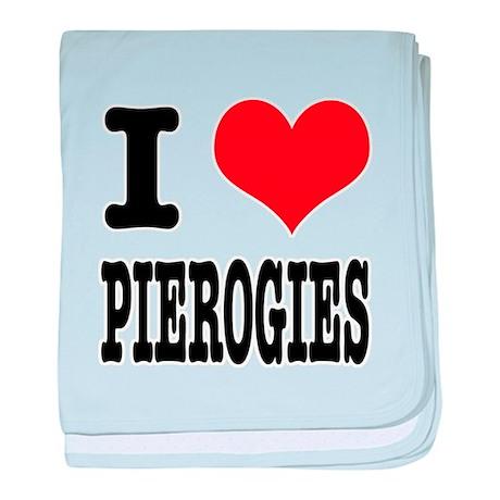 I Heart (Love) Pierogies Infant Blanket