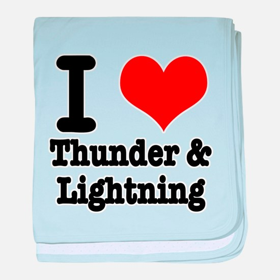 I Heart (Love) Thunder & Ligh Infant Blanket