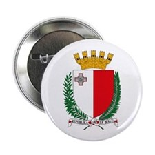 """Malta Coat of Arms 2.25"""" Button (10 pack)"""