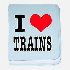 I Heart (Love) Trains Infant Blanket
