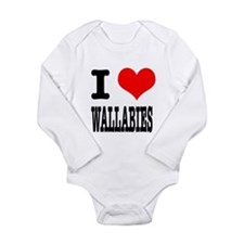 I Heart (Love) Wallabies Long Sleeve Infant Bodysu