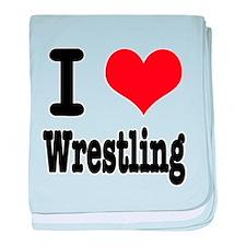 I Heart (Love) Wrestling Infant Blanket