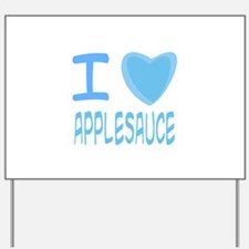 Blue I Heart (Love) Applesauc Yard Sign