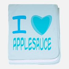 Blue I Heart (Love) Applesauc Infant Blanket
