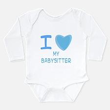 Blue I Heart (Love) My Babysi Long Sleeve Infant B