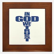 In God We Trust Framed Tile