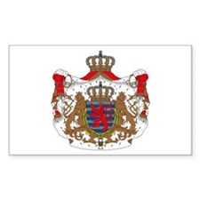 Luxembourg Coat of Arms Rectangle Decal